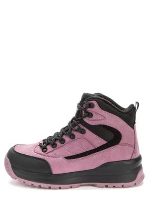 Ботинки розово-черные | 5569507