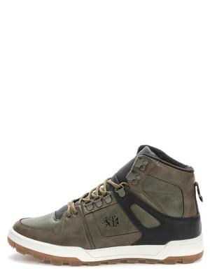 Ботинки цвета хаки | 5569540