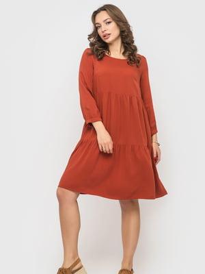 Сукня теракотового кольору | 5570989