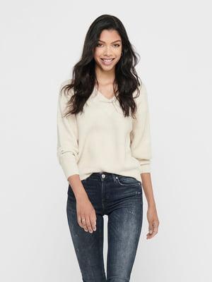 Пуловер молочного кольору | 5569744