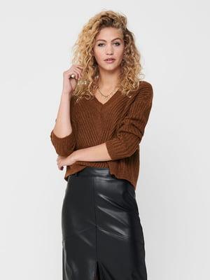 Пуловер коричневий | 5569808