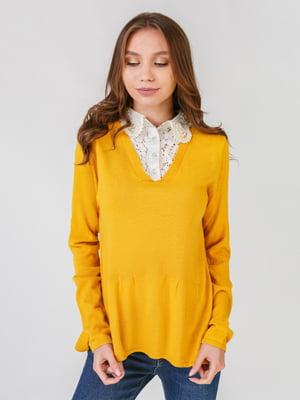 Пуловер гірчичного кольору | 5569945
