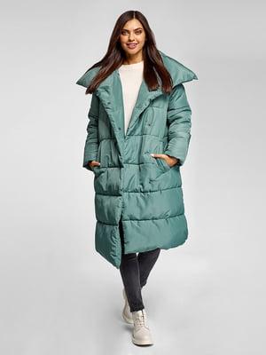 Пальто бирюзовое   5571083