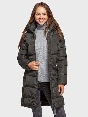 Пальто сіро-оливкове | 5571087
