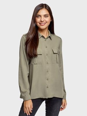 Блуза цвета хаки | 5571100