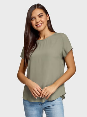 Блуза серо-зеленая | 5571104