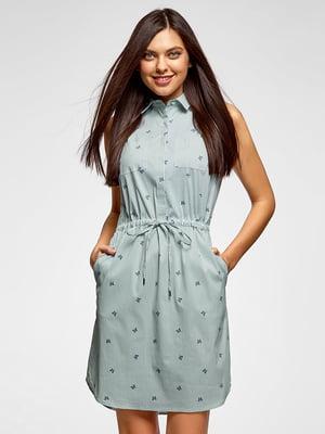 Платье в полоску и принт | 5571163