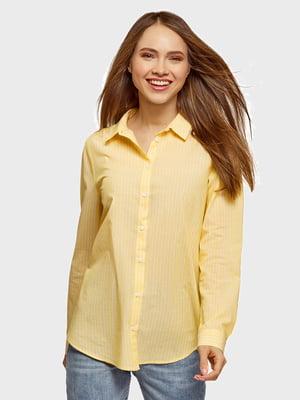 Сорочка жовта в смужку | 5571243