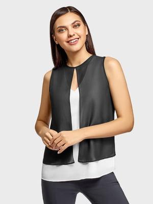 Блуза черно-белая | 5571400