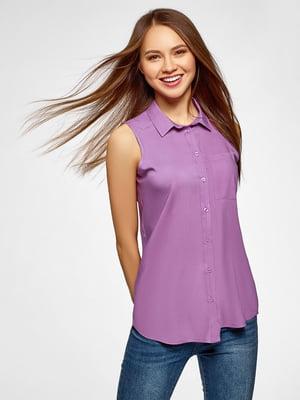 Блуза сиреневая | 5571405