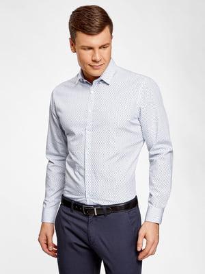 Рубашка белая с принтом | 5571630