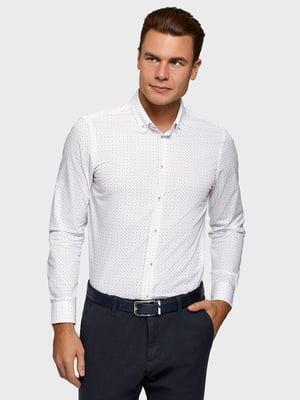 Сорочка біла з принтом | 5571667