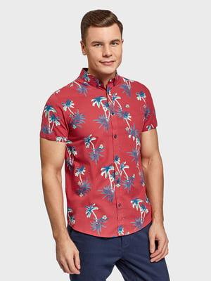 Рубашка красная с принтом | 5571681