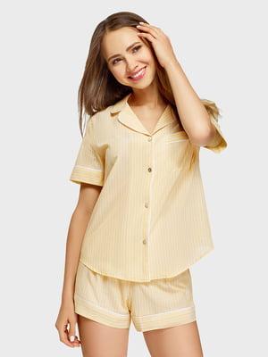 Рубашка в полоску пижамная | 5571791