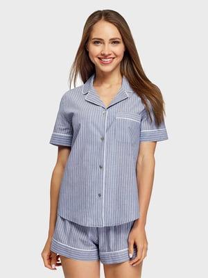 Рубашка в полоску пижамная | 5571792