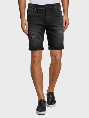 Шорти чорні джинсові | 5571979