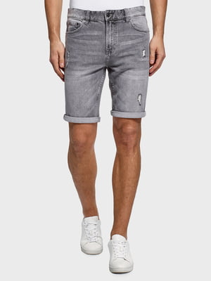 Шорты серые джинсовые | 5571980
