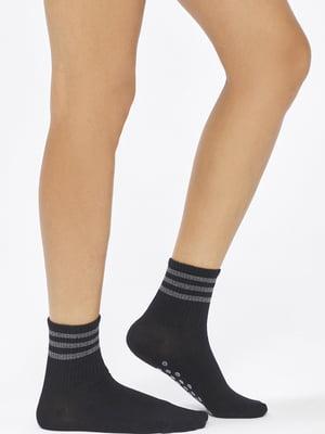 Носки черные с полосками | 5573615