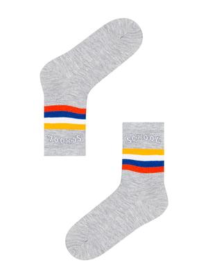 Шкарпетки сірі в смужку | 5573773