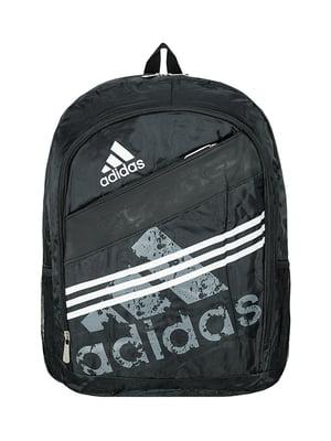 Рюкзак спортивный черный с логотипом | 5573897