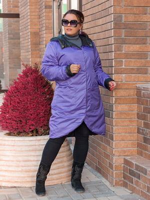 Куртка чорно-бузкового кольору   5574015