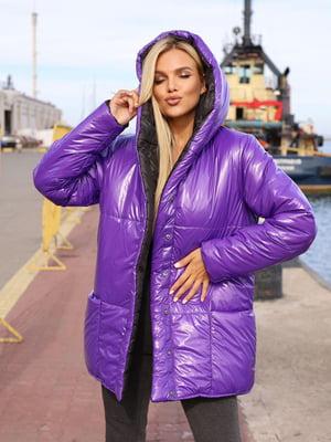 Куртка чорно-фіолетова | 5574038