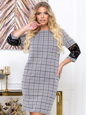 Платье серое в принт | 5574147