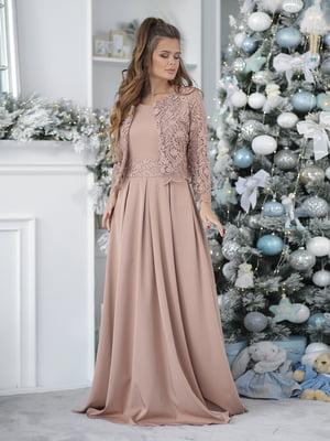 Сукня кольору мокко | 5574150