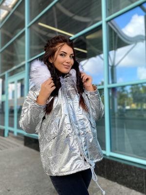 Куртка сріблястого кольору | 5573981