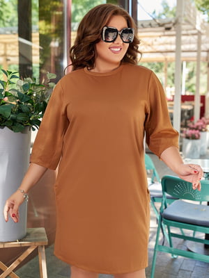 Платье коричневое | 5574366