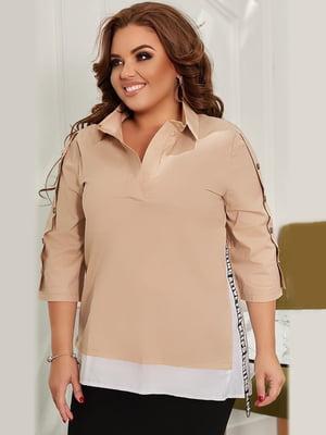 Блуза бежевая | 5574377