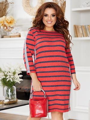 Платье красное в полоску | 5574393