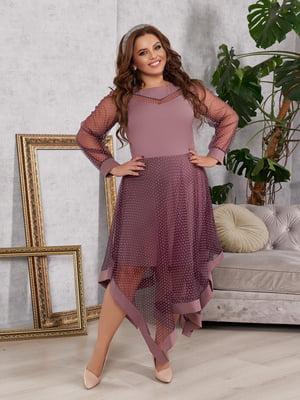 Платье фрезового цвета | 5574401