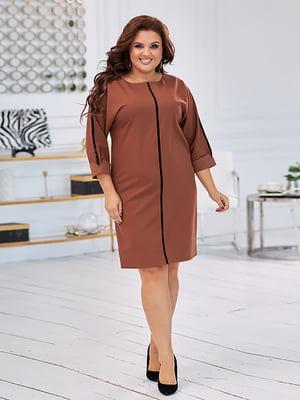 Платье коричневое | 5574421