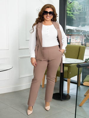 Костюм: блуза, жилет і штани   5574491