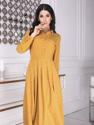 Сукня гірчичного кольору у горошок | 5574780
