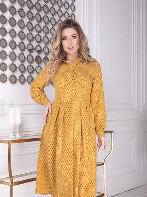 Сукня гірчичного кольору у горошок | 5574783