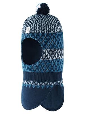 Шапка-шолом синя в ромби | 5575374