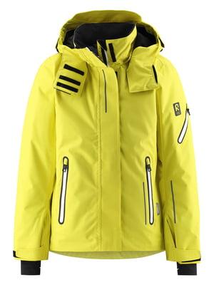 Куртка горнолыжная желтая | 5575531