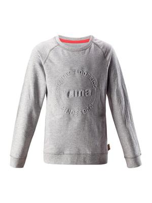 Свитшот серый с логотипом | 5575570