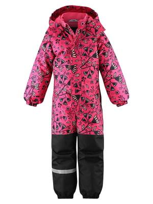 Комбінезон рожевий з квітковим принтом | 5575721