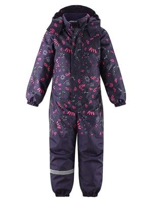 Комбінезон фіолетовий з квітковим принтом | 5575723