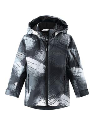 Куртка сіра з принтом | 5575734