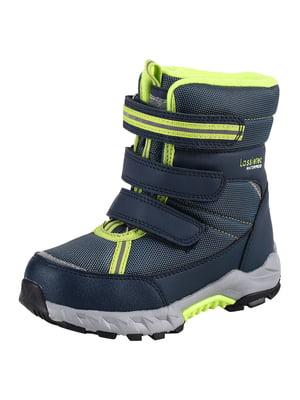 Ботинки сине-салатового цвета | 5575771