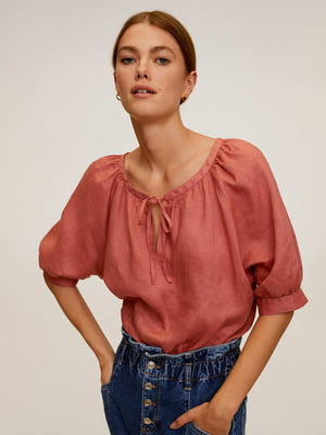 Блуза теракотового кольору | 5508332