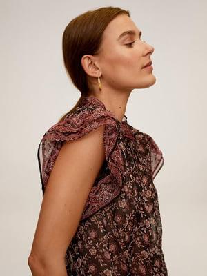 Блуза коричнева у принт   5508342