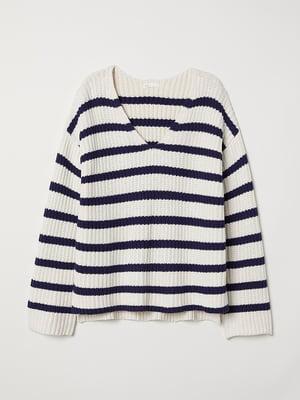 Пуловер в смужку | 5551746