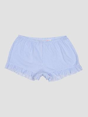 Шорты пижамные голубые в полоску | 5551900