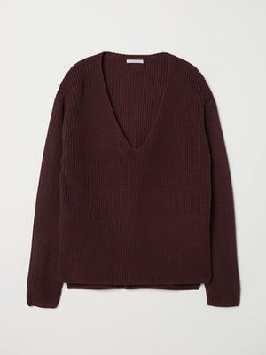 Пуловер бордовый   5576602