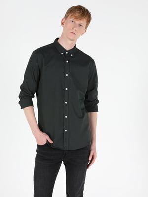 Сорочка кольору хакі | 5577450